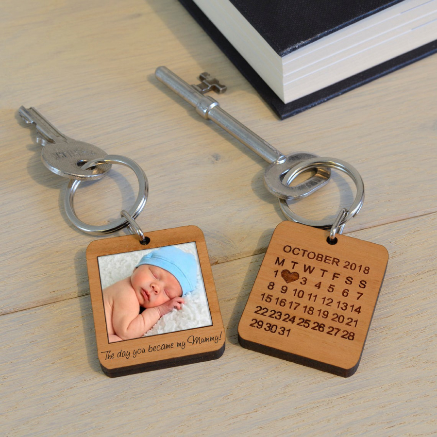Móc khóa quà tặng bằng gỗ